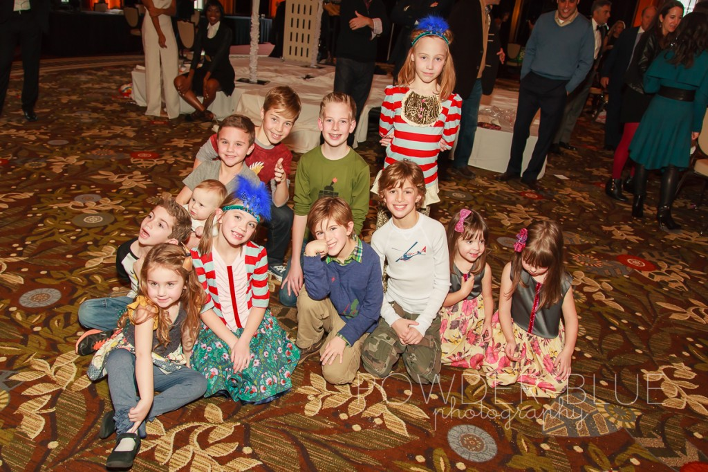In style with children's runway fashion show kids models backstage