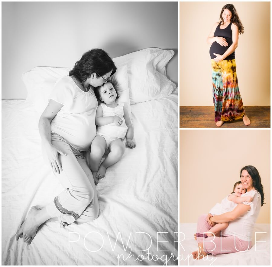 mother daughter maternity portrait