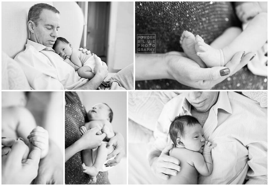 pittsburgh lifestyle newborn photography session black and white