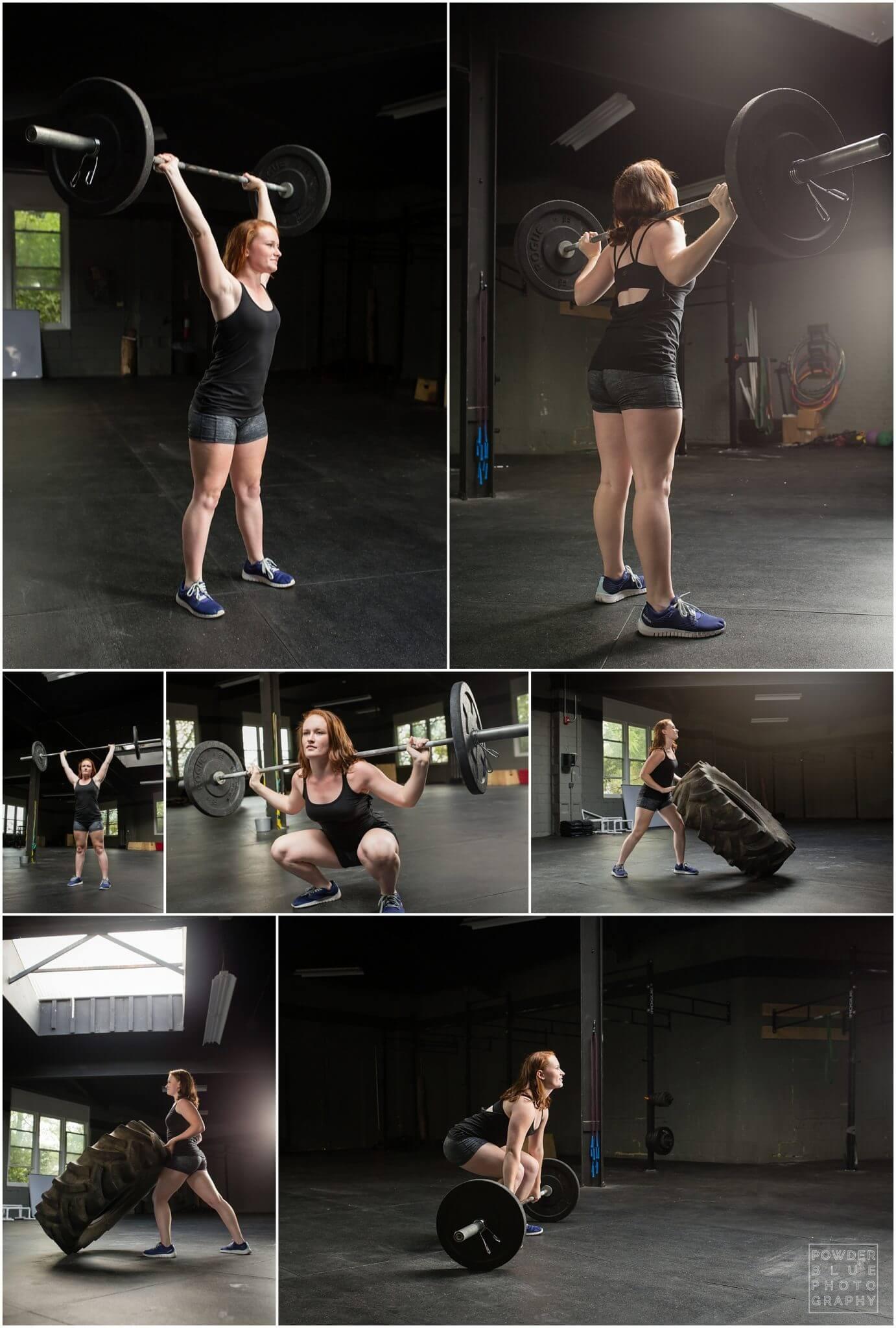 crossfit mt lebanon pittsburgh senior portrait inside of crossfit gym