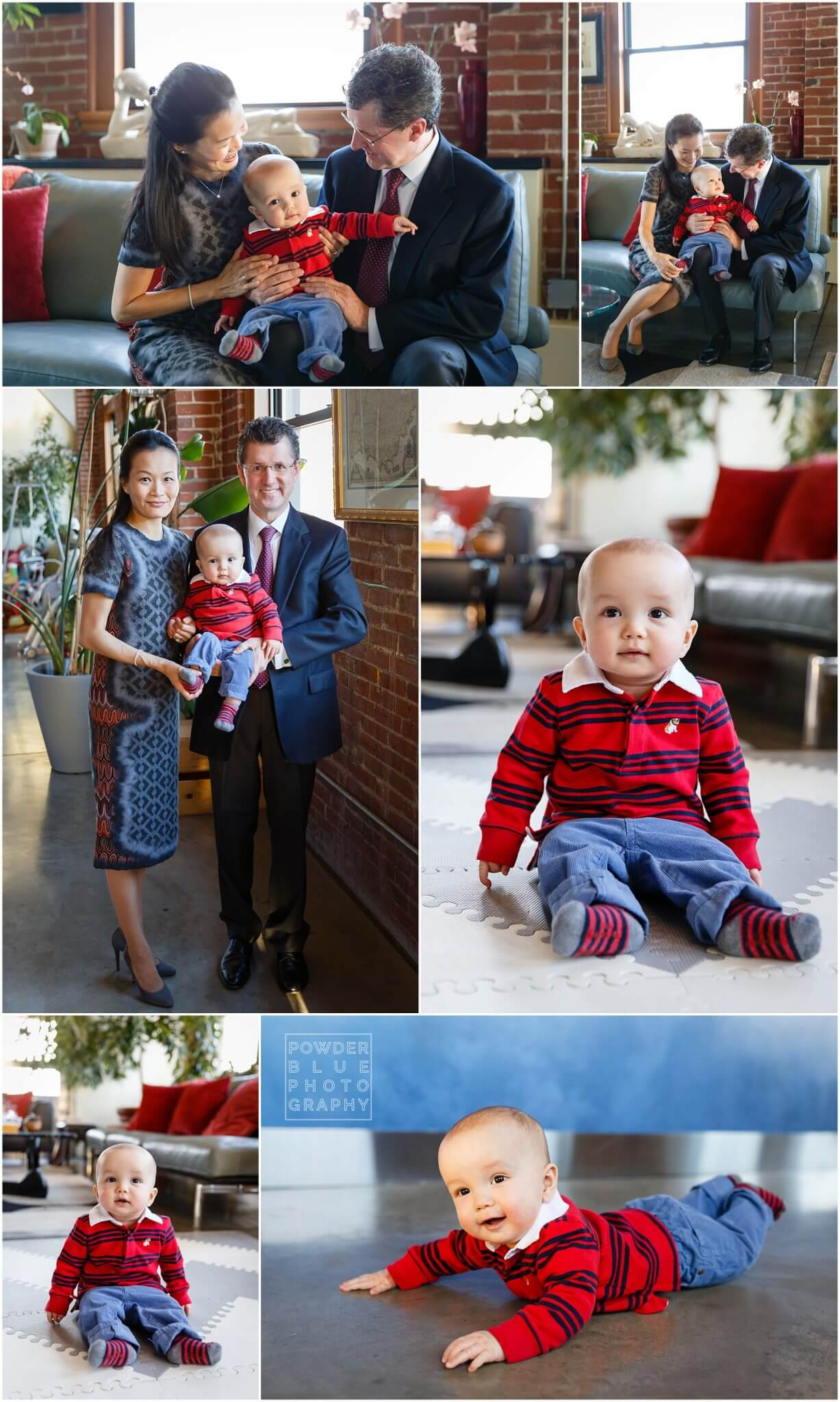 pittsburgh family photography session in strip district loft with the benter family.
