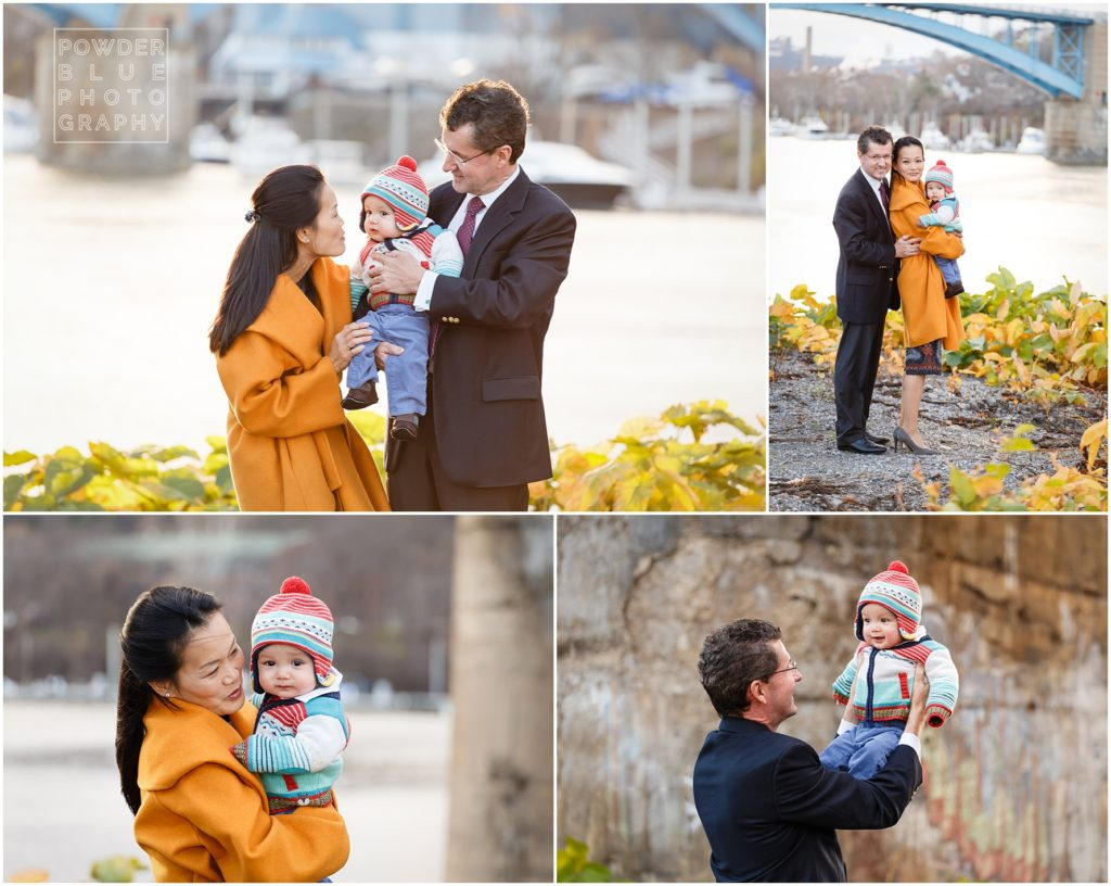 pittsburgh family photography session in strip district railroad location with the benter family.