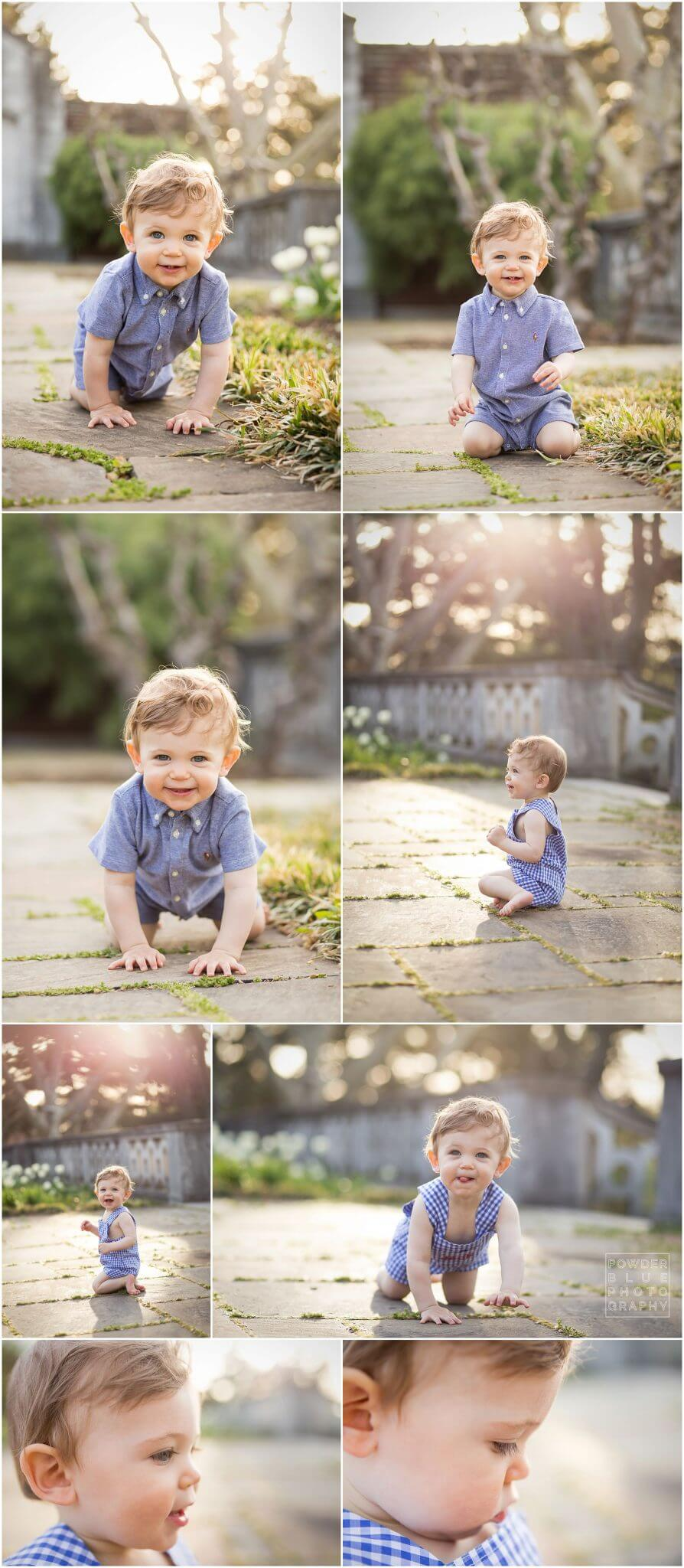 first year baby photography session at mellon park in pittsburgh.