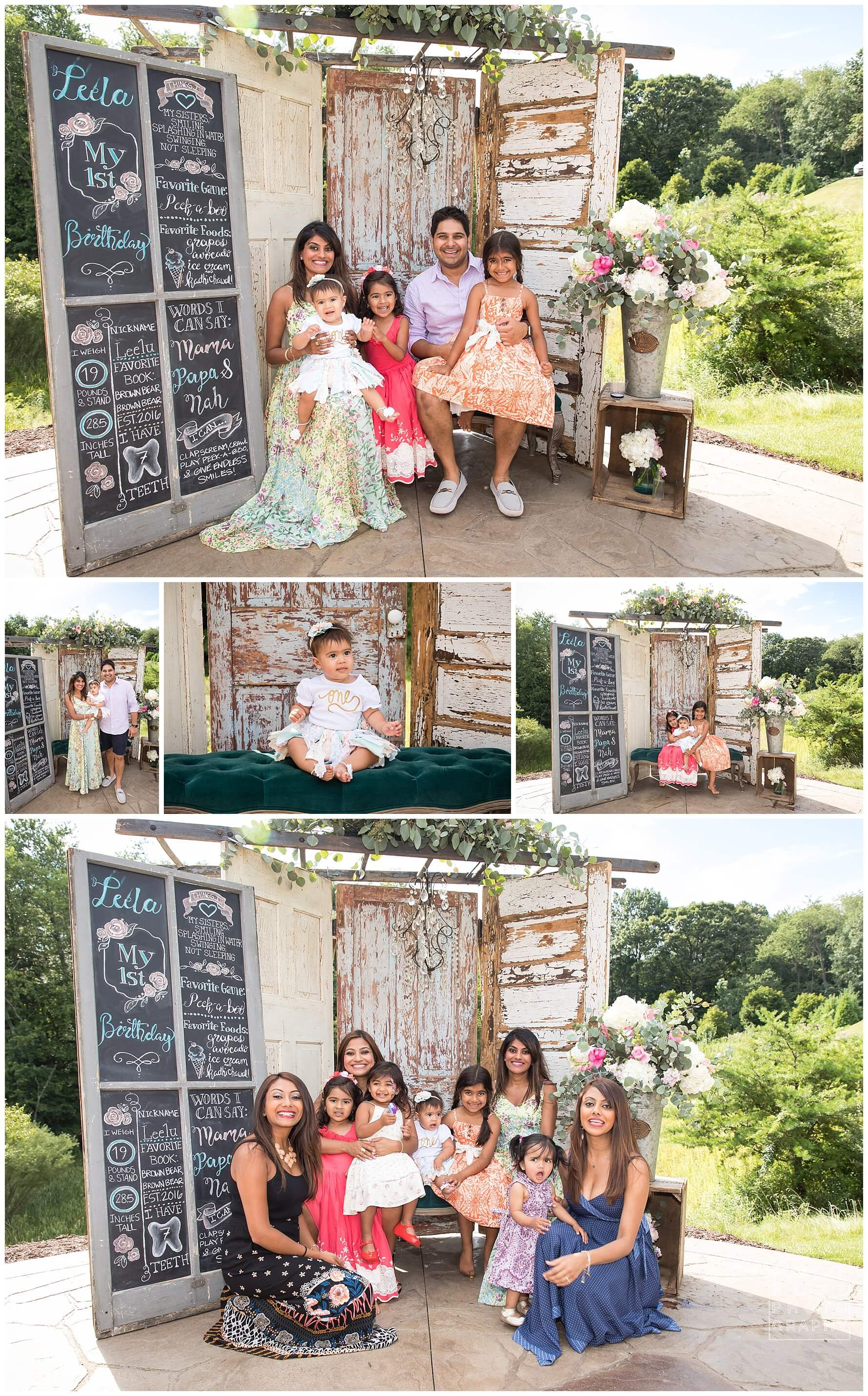 barn doors backdrop for photo booth. first birthday party decor shabby chic rustic.