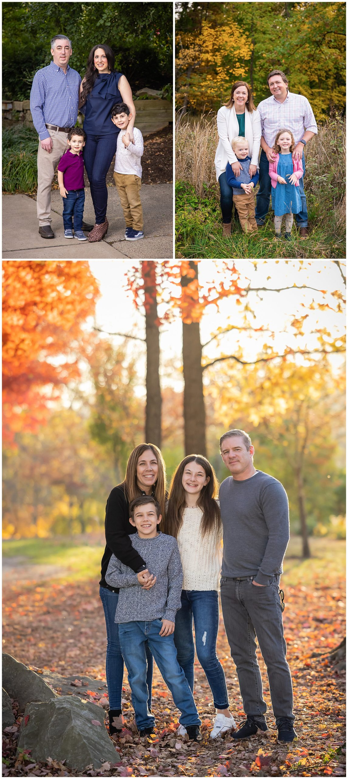 fall family portraits with changing leaves color pittsburgh pa