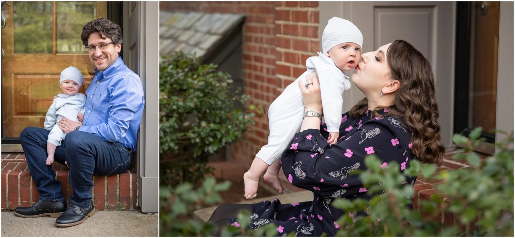newborn baby outdoor photos with mom and dad pittsburgh